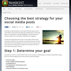 Choosing the best strategy for your social media posts