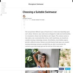 Choosing a Suitable Swimwear