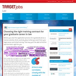 Choosing the right training contract for your graduate career in law