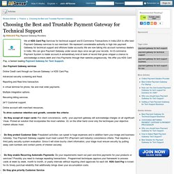 Choosing the Best and Trustable Payment Gateway for Technical Support by Kdscard Pay
