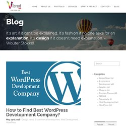 Choosing the Right WordPress Development Company