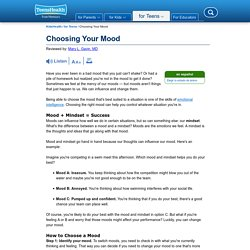 Choosing Your Mood