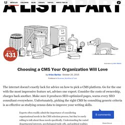 Choosing a CMS Your Organization Will Love