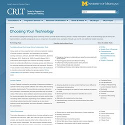 Choosing Your Technology
