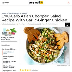 Asian Chopped Salad Recipe With Garlic-Ginger Chicken