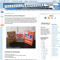 Vietnamese Food, Recipes, and More: Homemade Laundry Detergent