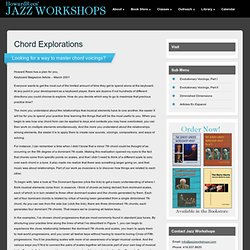 Chord Explorations