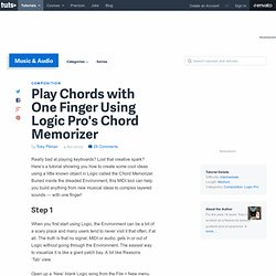 Play Chords with One Finger Using Logic Pro's Chord Memorizer -