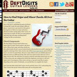 How to Find Major and Minor Chords All Over the Guitar