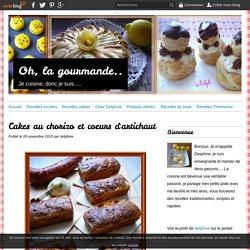 Cakes au chorizo et coeurs d'artichaut - Oh, la gourmande..