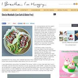 Chorizo Meatballs (Low Carb & Gluten Free)