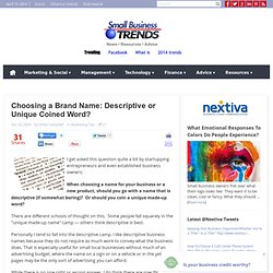 How To Chose a Brand Name: Tips, Ideas and Examples