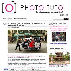 103 choses que j'ai apprises sur la photographie de rue