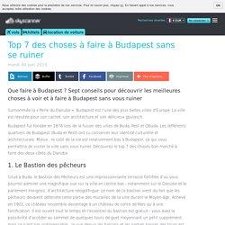Top 7 des choses à faire à Budapest sans se ruiner