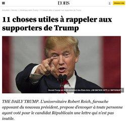 11 choses utiles à rappeler aux supporters de Trump