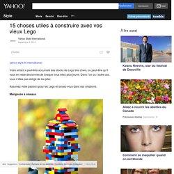 15 choses utiles à construire avec vos vieux Lego - Yahoo Style