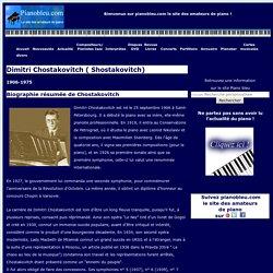 Dimitri Chostakovitch : Biographie et discographie - pianobleu.com