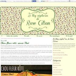 Chou fleur rôti, sauce Thaï