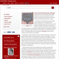 CHOUART DES GROSEILLIERS, MÉDARD – Volume I (1000-1700)
