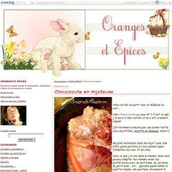 Choucroute en mijoteuse - Oranges et Epices