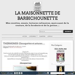 THERMOMIX: Chouquettes et astuces….