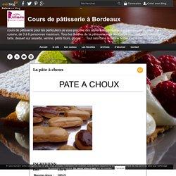 La pâte à choux - Cours de pâtisserie à Bordeaux