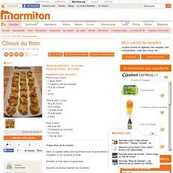 Choux au thon : Recette de Choux au thon