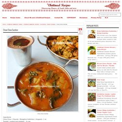 Chow Chow Sambar - Chettinad Recipes