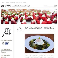 Bok Choy Hash with Poached Eggs