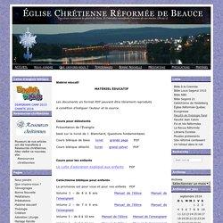 Église Chrétienne Réformée de Beauce » Matériel éducatif