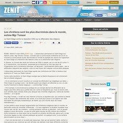 Le Saint-Siège contre la résolution ONU sur la diffamation des r