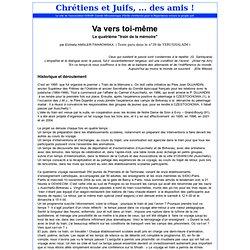 Chrétiens et juifs, ... des amis