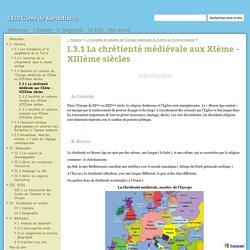 I.3.1 La chrétienté médiévale aux XIème - XIIIème siècles - 2420 Côme de Keranflec'h