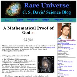 Chris Davis' Science Blog