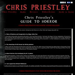 Chris Priestley's Guide to Horror