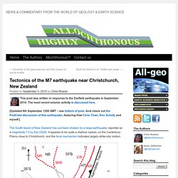 Tectonics of the M7 earthquake near Christchurch, New Zealand