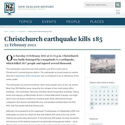 Christchurch earthquake kills 185