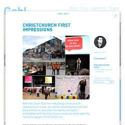 Christchurch First Impressions - Gehl Architects