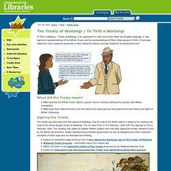 The Treaty of Waitangi / Te Tiriti o Waitangi