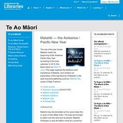 Matariki — the Aotearoa / Pacific New Year
