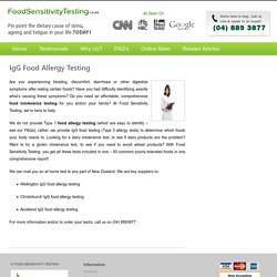 IgG food allergy testing in Auckland, Wellington, Christchurch, Hamilton, Tauranga, Dunedin
