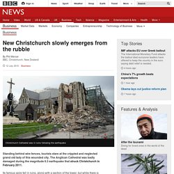 New Christchurch slowly emerges from the rubble - BBC News
