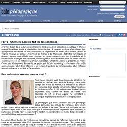 FEI10 : Christelle Lacroix fait lire les collègiens