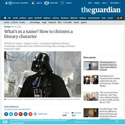 What's in a name? How to christen a literary character
