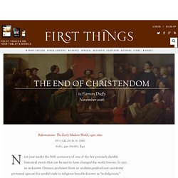 The End of Christendom by Eamon Duffy