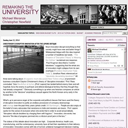 Remaking the University: Christensen's Disruptive Innovation after the Lepore Critique