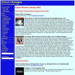 Robert Christgau: Expert Witness: January 2012