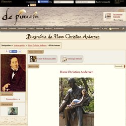 Hans Christian Andersen - Biographie - DPP