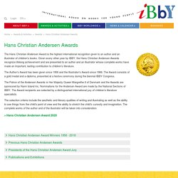 Hans Christian Andersen Awards: IBBY official website