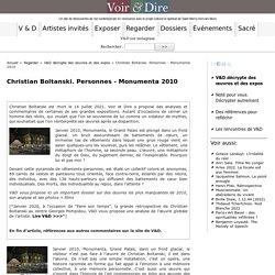 Christian Boltanski. Personnes - Monumenta 2010 - Voir & Dire